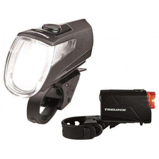 Trelock LS 360 I-GO(R) ECO / LS 720 tölthető akkumulátoros első+hátsó LED kerékpár lámpa szett [fekete]