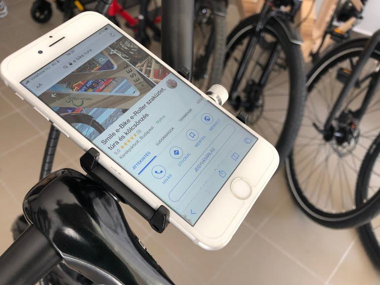 GUB G-85 fém Kerékpáros telefontartó G85 zöld (360°-ban állítható, fém kormányra rögzítő, 50mm-100mm méret)