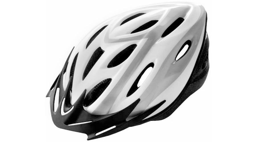Kerékpáros bukósisak VISTA RIDER felnőtt fekete/fehér L 58-61