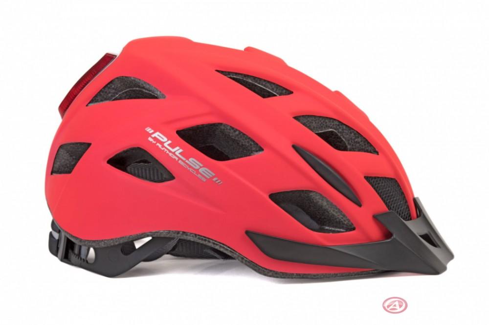 Author Pulse Led kerékpáros bukósisak 185 NeoRed 58-61 cm méret: L