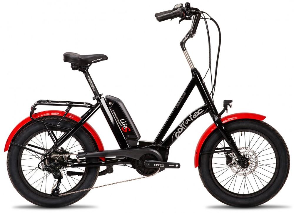 E-bike Corratec Life S AP5 RD 8 speed, fekete-piros, láncváltós