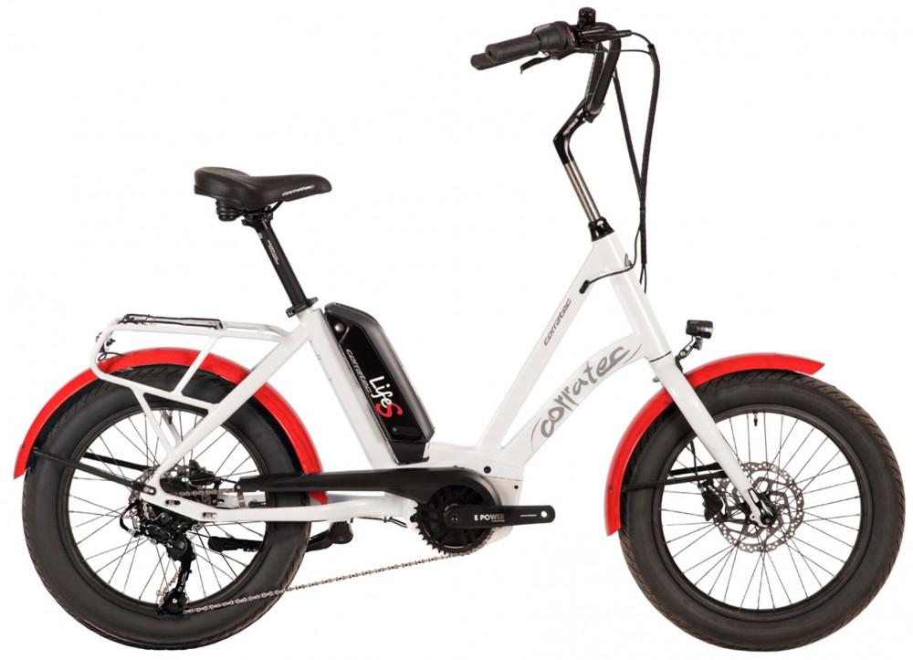 Corratec Life S AP5 RD 8 speed elektromos kerékpár, fehér-piros, láncváltó